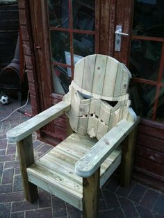 This is exactly what my patio needs: a stormtrooper deck chair. Love the Imperial army symbols on the armrests.