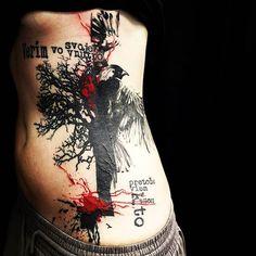 Verím vo svoje vnútro, pretože viem, kto som! 🙂 #tattoo #mytattoo #art #tattoos #tree #bird #black #red #freedom #power ##trnava #thankyou ... @dnes_tetujem  @enhancertattoo  #Regram via @s_i_s_i_up) Tatuagem Trash Polka, Trash Polka Tattoo, Tattoo Videos, Deviantart, Tattoo Studio, Sleeve Tattoos, Cool Tattoos, Tatting, Feather