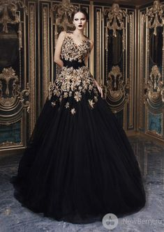 Rami Kadi Haute Couture 2013, a black wedding gown should be
