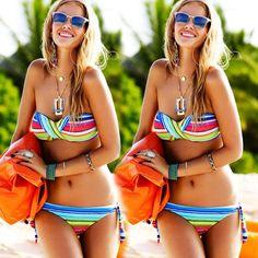 2015 Sexy Women's Bikini Set Summer Beach Bra Floral Swimsuit Push-up Swimwear #Unbranded #Bikini
