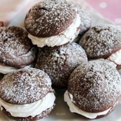 Whoopies  pie al cioccolato #food #recipes #italianfood