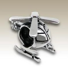 Helicopter Charm Bead - Pandora Compatible