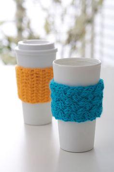 Coffee-on-the-Go Crochet Cozy « The Yarn Box