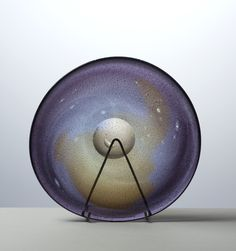 Lubomir Blecha, cosmic dust nebulae on a plate, 1963, Pattern No: 6359, glassworks Skrdlovice, Czechoslovakia