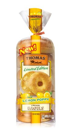 Lemon poppy bagels