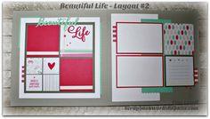 Beautiful Life pre-cut, ready to assemble 6 page Scrapbook Layout kit. $23 #scrapbooklayouts #scrapbookkit #scrapbookingkit #scrapgirl6