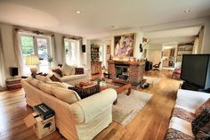 Check out this photo of a beige girly wooden floor living room on Rightmove Home Ideas