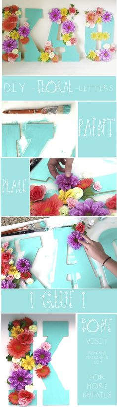 DIY Sorority Floral Letters | 19 Sorority Crafts to Make This Summer, by Category | http://www.hercampus.com/life/campus-life/19-sorority-crafts-make-summer-category