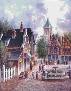 The City Square [LEWAN18006] - $19.00 : Heaven And Earth Designs, cross stitch, cross stitch patterns, counted cross stitch, christmas stockings, counted cross stitch chart, counted cross stitch designs, cross stitching, patterns, cross stitch art, cross stitch books, how to cross stitch, cross stitch needlework, cross stitch websites, cross stitch crafts