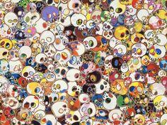 Takashi Murakami's Spirited Flowers Skulls.