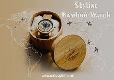 Skyline bamboo watch. Classy, unique, eco- friendly! Travel with style!