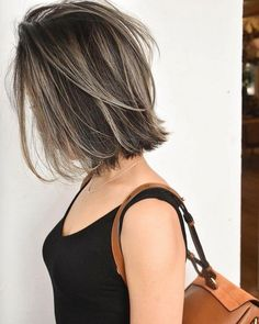 Subtle and Wavy Partial Balayage Hair - 20 Jaw-Dropping Partial Balayage Hairstyles - The Trending Hairstyle Asian Short Hair, Short Wavy Hair, Asian Hair, 4c Natural Hair, Natural Hair Styles, Short Hair Styles, Ombre Hair, Balayage Hair, Hair Color Asian
