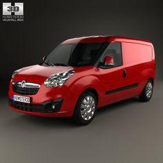 Vauxhall Combo Panel Van L2H1 2012 3D Model .max .c4d .obj .3ds .fbx .lwo .stl @3DExport.com by humster3D