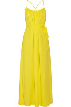 For baby shower? Thakoon Addition Superfine belted cotton-jersey maxi dress