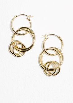 & Other Stories |Multi Hoop Earrings in Gold