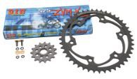 Superlite/D.I.D. 525ZVMX Gold Super Street Chain & Steel Sprocket Kit