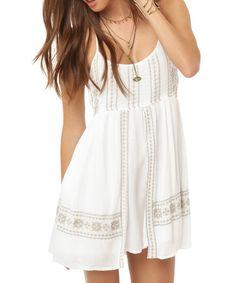 Look what I found on #zulily! White Eugenia Halter Dress by O'Neill #zulilyfinds