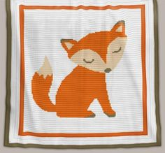 Crochet Pattern | Baby Blanket / Afghan - Fox - Full Row-by-Row Instructions + Chart