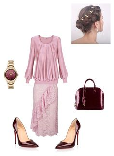 """Ring around the Rosey"" by coomergirl on Polyvore featuring Topshop, Christian Louboutin, Louis Vuitton and Karl Lagerfeld"