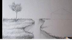Paso 5 para aprender a dibujar paisajes a lapiz