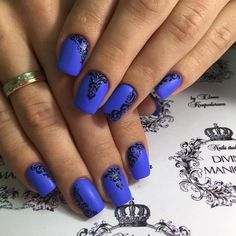 Beautiful patterns on nails, Blue nails ideas, Elegant nails, Great nails, Ideas of winter nails, Luxury nails, Matte nails, Nail designs
