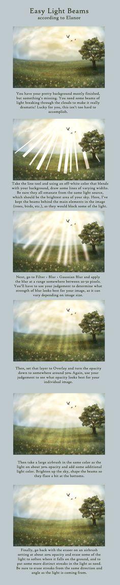Light Beam Tutorial by ehkindred.deviantart.com on @deviantART