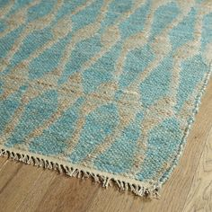 Handmade Natural Teal Fiber Canyon Rug (2'0 x 6'0) | Overstock.com Shopping - The Best Deals on Runner Rugs