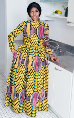If you need an outfit than will make an impact and have you noticed, then look no further: The Mouna African Maxi Dress is the answer. We offer you the latest African styles for your Xmas and New Year celebrations. This dress accommodates every body type and is very versatile. The multitude of colors makes it easy to a African Maxi Dresses, African Dresses For Women, Maxi Gowns, African Wear, African Attire, African Women, Ankara Dress, Ghana Style, Latest African Styles