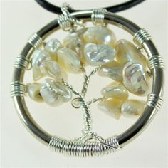 Pearl Tree of Life pendant with leather necklace  $35.00