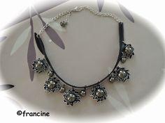 FRANCINE BRICOLE : Les capsules Nespresso encerclent les perles argentées et se font collier