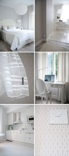 White interior design / Scandinavian style / Mimou hotel-interesting-clean and serene! White Interior Design, Classic Interior, Interior Design Inspiration, Interior Decorating, Design Scandinavian, Casa Clean, Home Goods Decor, Awesome Bedrooms, White Houses