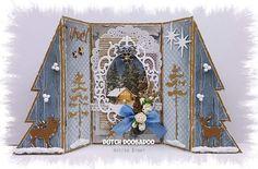 Billedresultat for dutch doobadoo Die Cut Christmas Cards, Simple Christmas Cards, Xmas Cards, Handmade Christmas, Fancy Fold Cards, Folded Cards, Winter Karten, Tattered Lace Cards, Shaped Cards