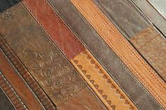 Leather Belt Floor Tiles by Materia