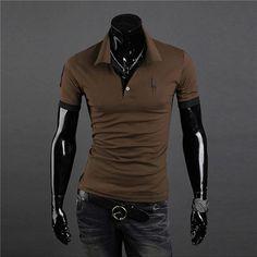 18c440ee6f3 Men s Black Summer Fashion Sleek Casual Dress Shirt M-2XL