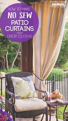 Drop Cloth Curtains for my Patio   Drop cloth curtains, For the ...