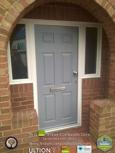 Every Solidor Timber Composite Door comes fitted as standard with Ultion 3 Star Diamond Sold Secure Locks, fully fitted with 12 months Credit Panel Doors, Front Doors, Door Images, Composite Door, Free Credit, House Doors, French Grey, Contemporary, Modern