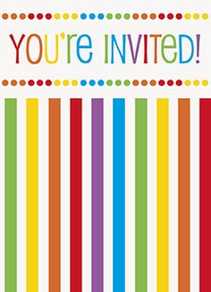 Rainbow party invitations http://www.wfdenny.co.uk/p/rainbow-party-invitations/4174/