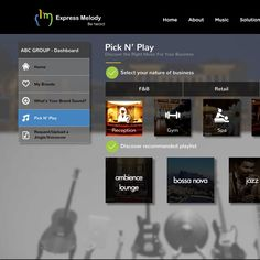 Design a beautiful music selection platform for Express Melody by FIIL