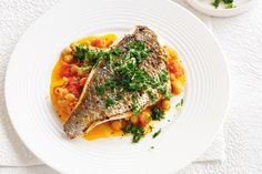 Pan-fried Snapper With Spiced Chickpeas Recipe   |Recipe Ideas|Pear Recipes