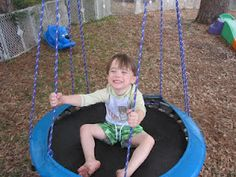 Outdoor play ideas for kids with special needs.