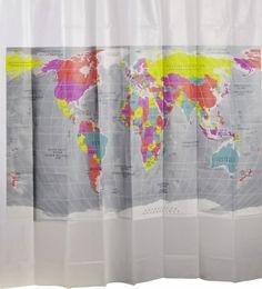 Cortina de Baño Mapa del Mundo II 180 x 180cm