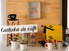 cantinho do cafe como montar na sua casa. Amantes de café. Coffee time. canto do café.