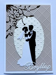 Bryllup Wedding Day Cards, Wedding Anniversary Cards, Engagement Cards, Stamping Up Cards, Handmade Birthday Cards, Deck Of Cards, I Card, Making Ideas, Cardmaking