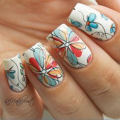 Cute Flower Nail Art Water Decals Nail Transfer Trendy Design Stickers