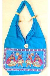 #Dandiya Patched #blue #cotton   #Ethnicbag