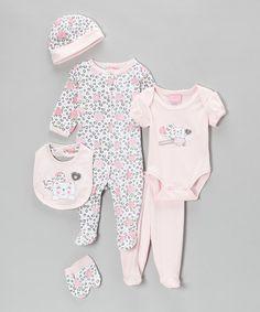 Mon Cheri CUTE! Baby Headquarters Infant Girl/'s 3-Piece Outfit Sets Bon Bebe