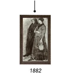 Sien Pregnant Walking With Older Woman by Vincent Van Gogh. Sien Hoornik was Van Gogh's pregnant lover Art Through The Ages, Great Expectations, Vincent Van Gogh, Older Women, Pregnancy, Walking, Woman, Mirror, Artist