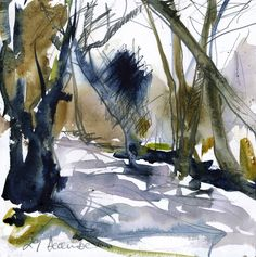 29 December.web Contemporary Landscape, Abstract Landscape, Landscape Paintings, Landscapes, 29 December, Abstract Watercolor, Watercolours, Sketches, Sculpture