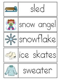 Winter word wall winter words writing centers and prompts sciox Gallery