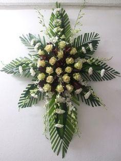 Funeral Flowers Puerto Rico: Send flowers for sympathy with Mia Bella Casket Flowers, Altar Flowers, Church Flowers, Funeral Flowers, Send Flowers, Funeral Floral Arrangements, Large Flower Arrangements, Deco Floral, Arte Floral